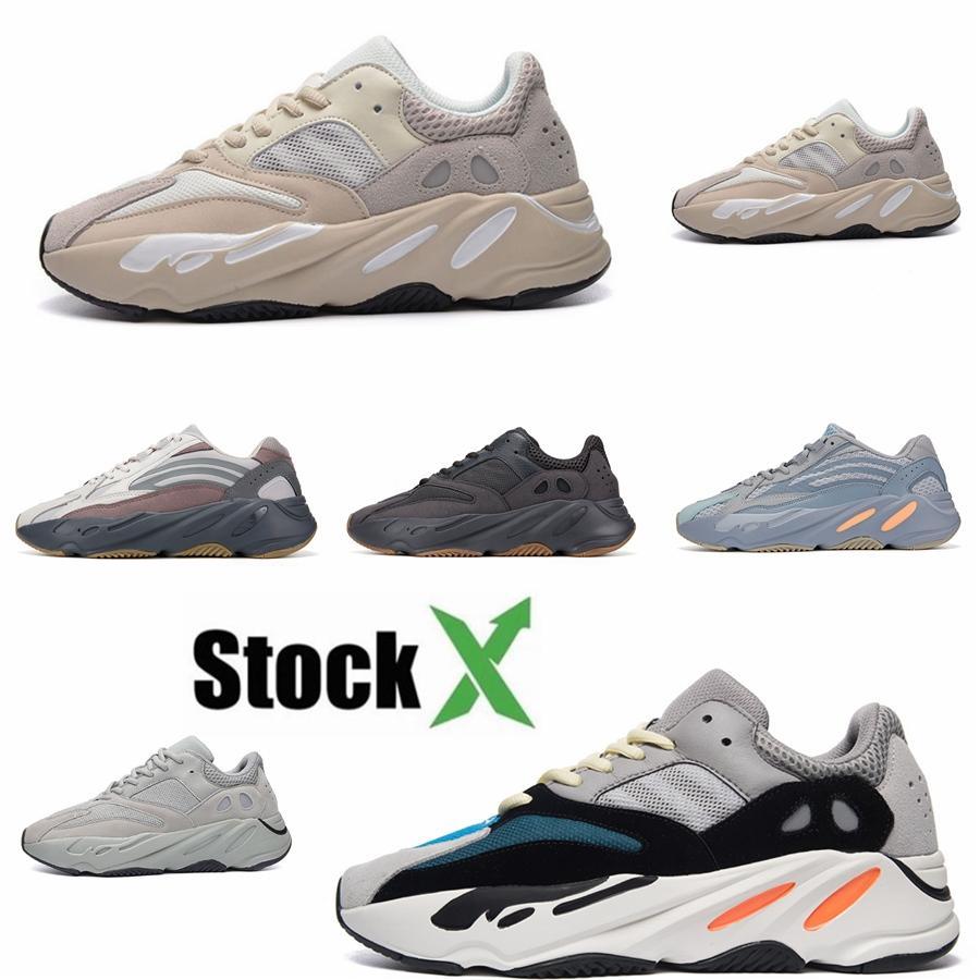 2020 Kanye West 700 V2 Hostpictal Mavi Yecheil Reclective Yeshaya Sitrin Bulut Beyazı Siyah Statik Koşu Ayakkabı Kadın Erkek Tasarımcı Sn # DSK639