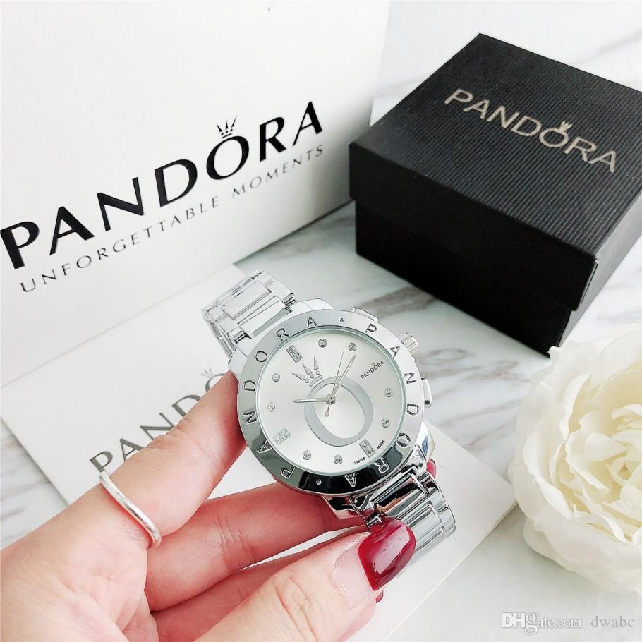 Nueva 40mm reloj de las mujeres de moda de lujo con los relojes de marca de fábrica superior famosa caja reloj ocasional del cuarzo de los hombres de los relojes de las mujeres de los hombres y