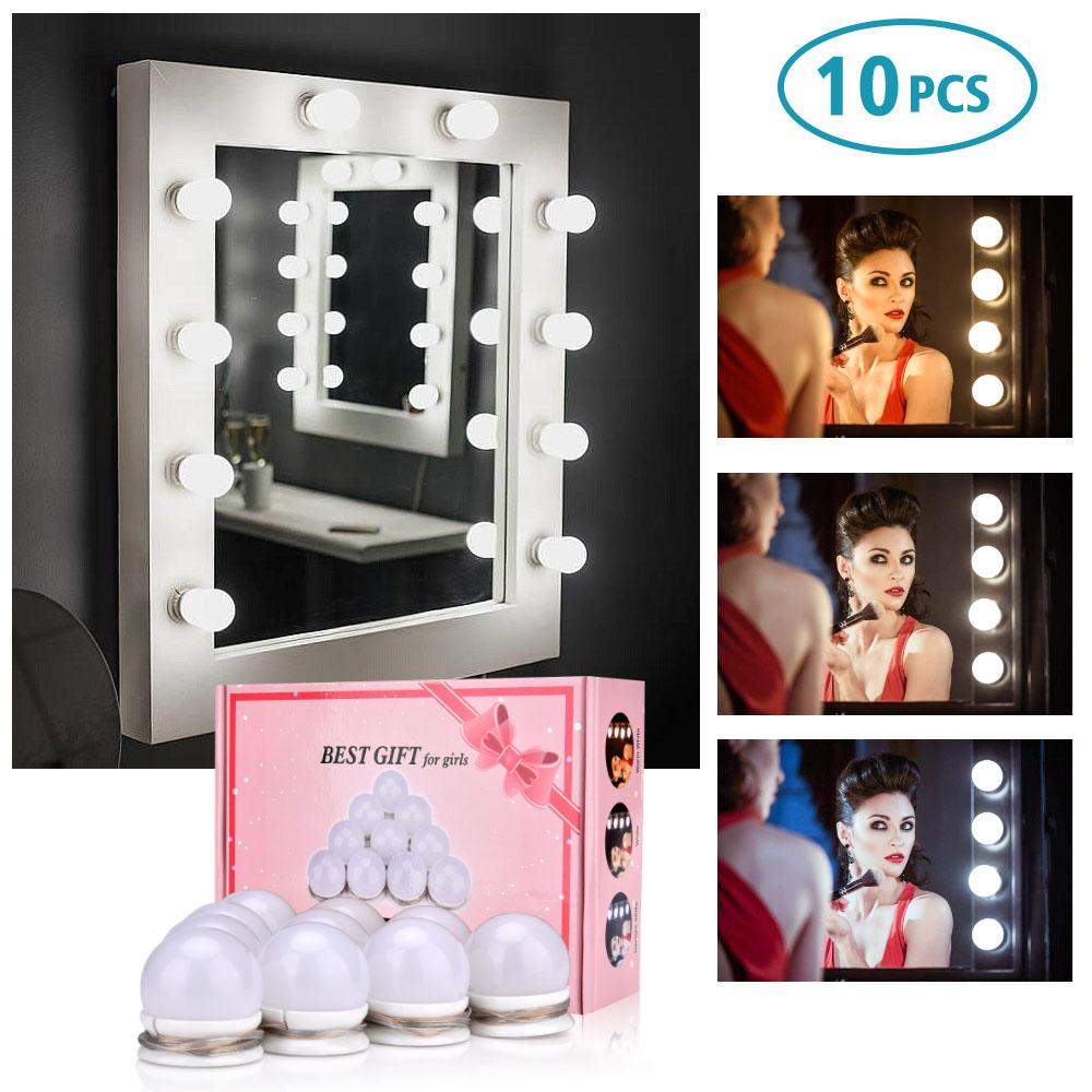 Makeup Mirror Vanity LED Light Bulb Hollywood Dimmable Mirror Lights Lamp Kit for Dressing Table DIY Makeup Lamp Light
