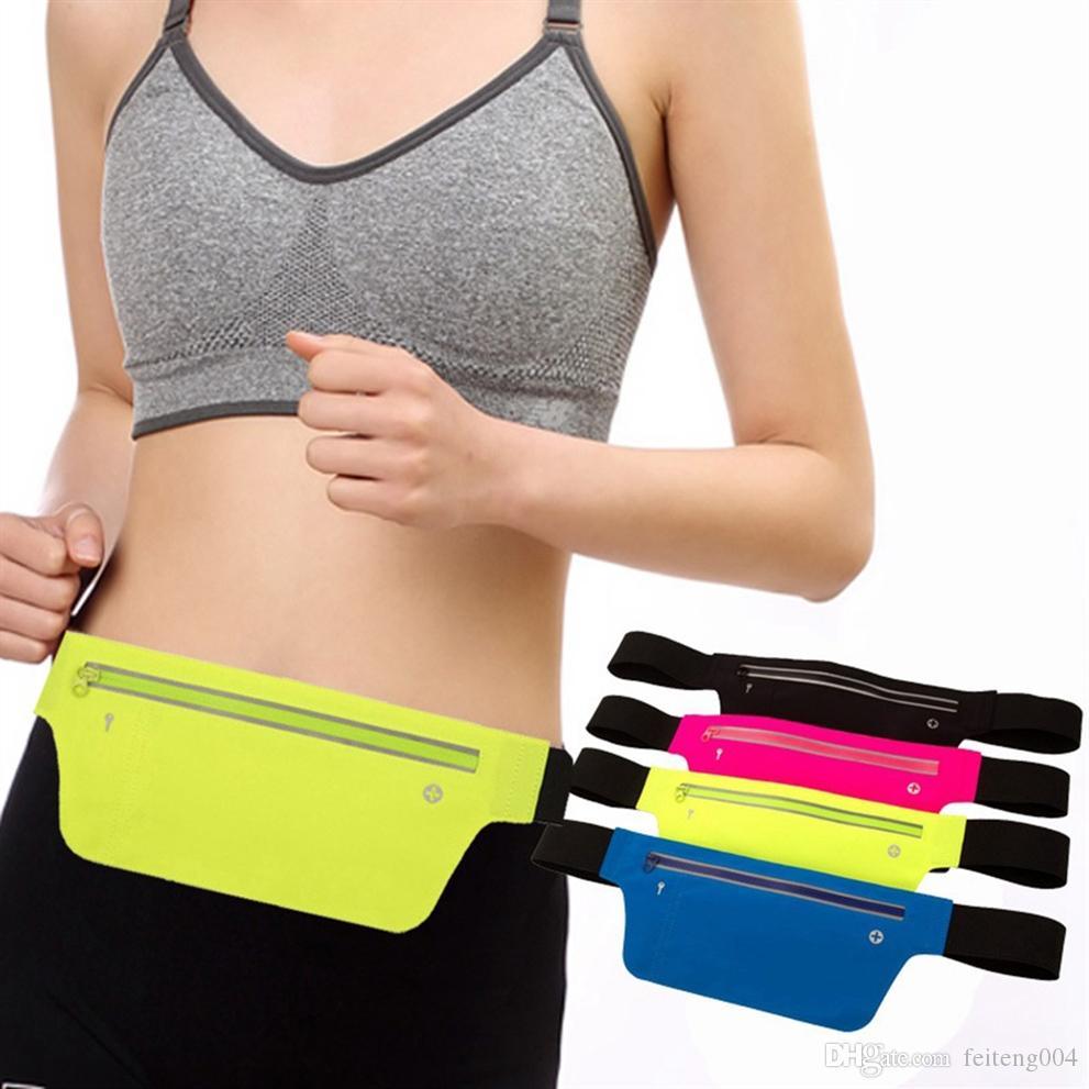 Professional Running Waist Pouch Belt Anti-theft Sporting Keys Cellphone Pouch Sport Belt Mobile Phone Men Women Gym Bags #563182