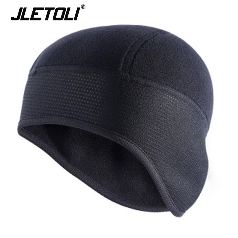 JLETOLI Wintersport Radmütze Männer Fleece Cap MTB Hat Winddichtes Outdoor-Thermal Hat Fleece Bikes Fietsen
