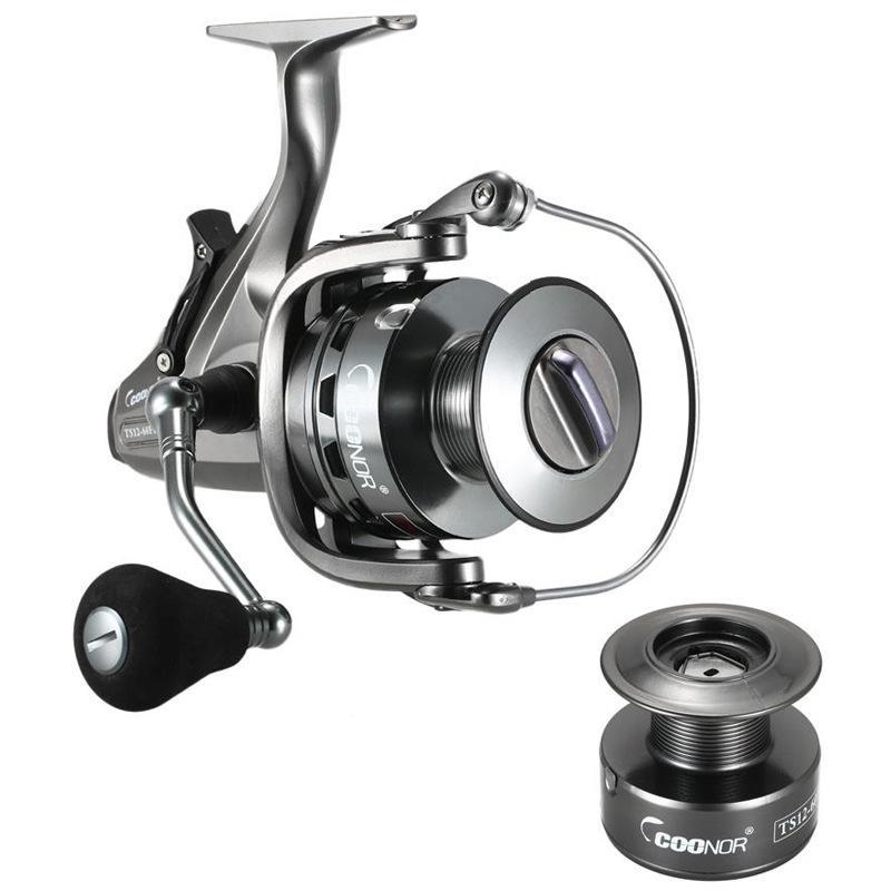 Coonor 11 + 1BB Spinning Mulinello GT 6.3: 1 Maniglia Destra / Sinistra doppio Brake System Carp Fishing Tackle Carretilha de pesca