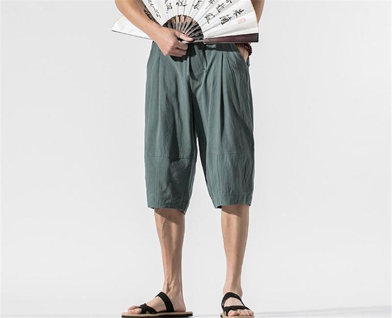 Solid pantaloni di colore casuali del carico di marca Mens coulisse Pantaloni Uomo Abbigliamento Estate Uomo Pantaloni corti di moda