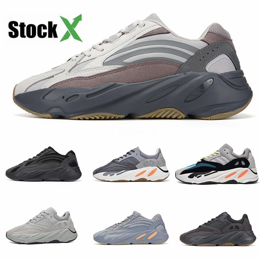 2020 Magnet Utility Black 700 V2 Wave Runner Mens Women Designer Sneakers Kanye 700 V3 West Sport Shoes With Box S #DSK868