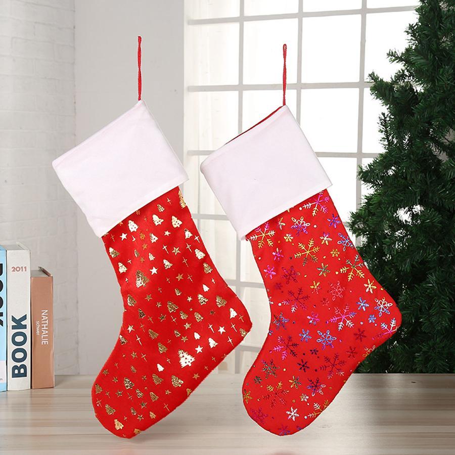 حلوى عيد الميلاد الجورب حقيبة هدية عيد الميلاد الأشجار زينة جوارب معلقة على جدار RRA2044 زينة عيد الميلاد 8styles
