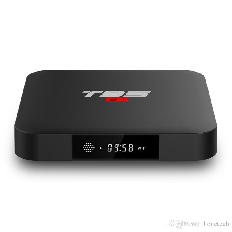 T95 S1 1GB 8gb أندرويد 7.1 tv box S905W 2.4 GHz Wifi support Stbemu Youtube Netflix 4k Set Top Box