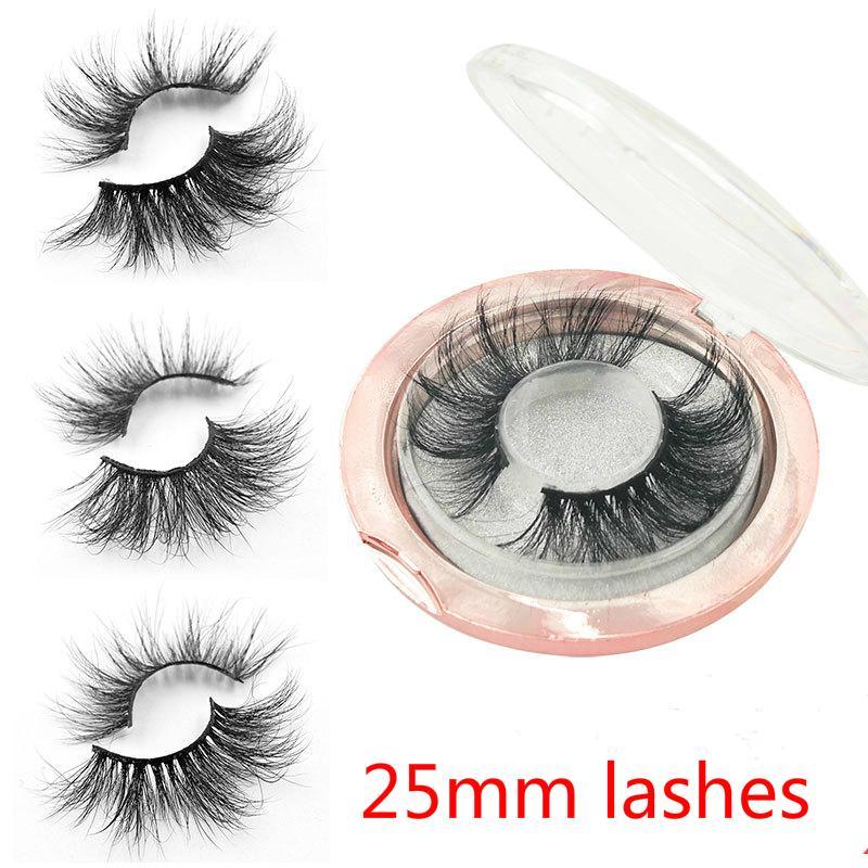 Wholesale Cosmetics 5D Mink Eyelashes Long Thick 5D 25mm False EyeLashes Fake Eyelashes Hand Made Strip Lashes Makeup Eyelash Extension