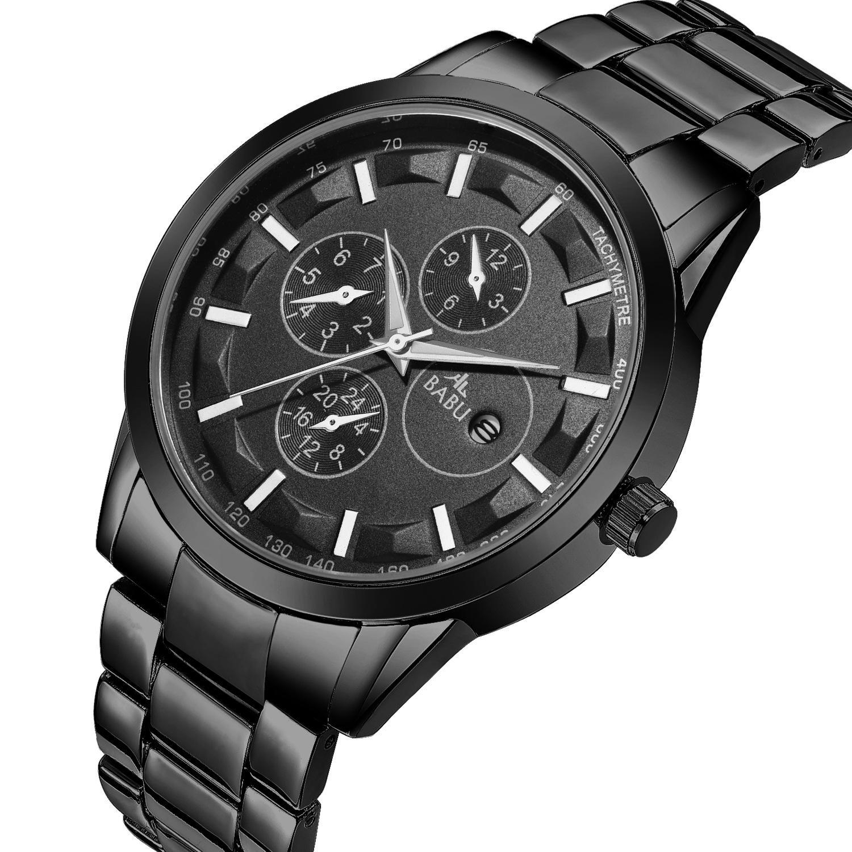 Babu brand watch мужская внешняя торговля мода три глаза спортивные мужские часы календарь водонепроницаемые кварцевые часы