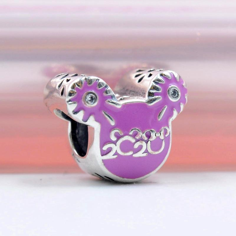 2020 NEW S925 Sterling Silber 2020 stieg Emaille Schloss Charme Fit Pandora Armband-Halsketten-Anhänger-Schmucksachen DIY Wulst