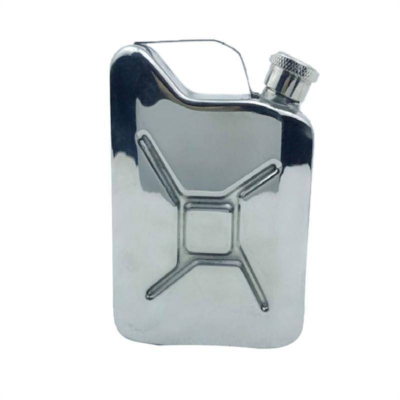Portable Jerry acier inoxydable Flagon Can Flasque 5 oz Acier Carburant Essence Can whisky bouteille d'alcool Essence Can 2019 préféré