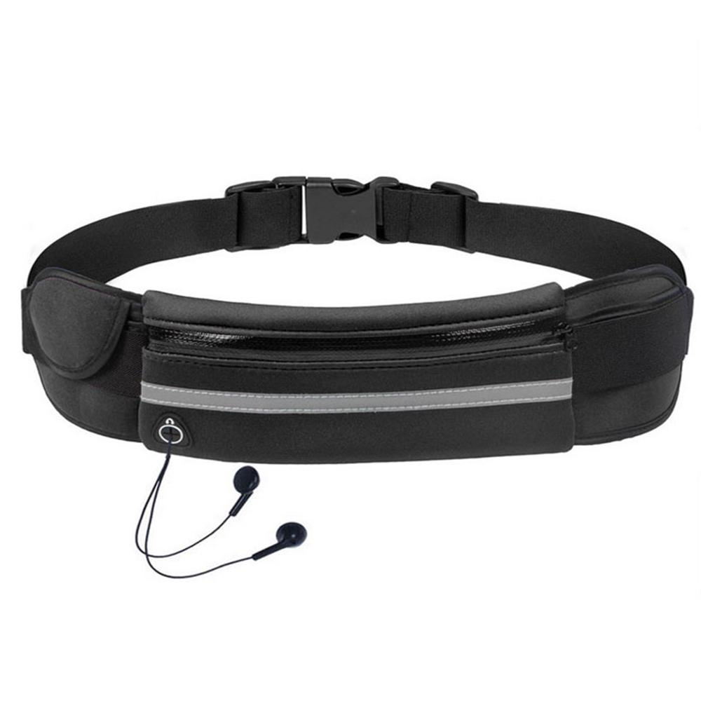 Water Resistant Runners Belt Fanny Pack For Hiking Fitness Adjustable Pouch