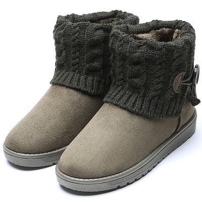 2019 nuevos de las mujeres calientes botas de invierno botas de nieve mediados de el becerro mujeres de las señoras de chicas gruesa felpa Flock Zapatos de mujer