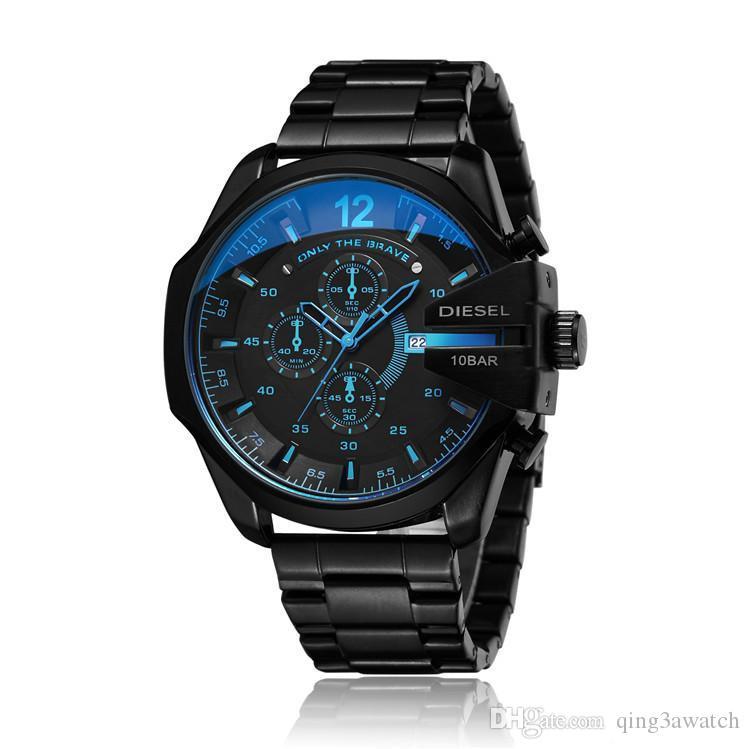 2020 homem Venda DZ4318 relógios de luxo recém-chegados DZ militar tudo de moda de aço inoxidável relógios homens grandes dos DIESEL de negócios de marcação relógios