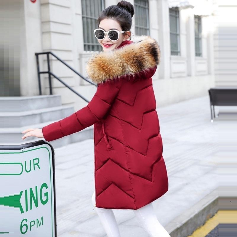 Moda-Real Fur Womens Down Jacket 2019 jaqueta de inverno Mulheres Natural Raccoon Fur Collar Casaco de Inverno Feminino Parkas Aqueça Outwear
