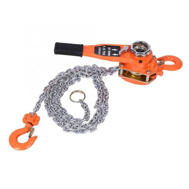 Aleación de acero de 10 pies 1.5Ton palanca de trinquete polipasto de cadena Tirador 3 metros de altura con elevadores cadena de elevación Equipo Herramientas
