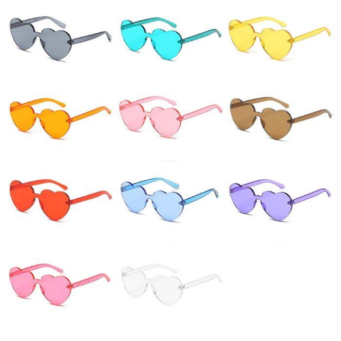 Uma Nova Peça De Óculos De Lentes De Amor Óculos De Sol Mulheres Óculos De Plástico Transparente Estilo Óculos De Sol Mulheres Senhora De Cor Doce Clara