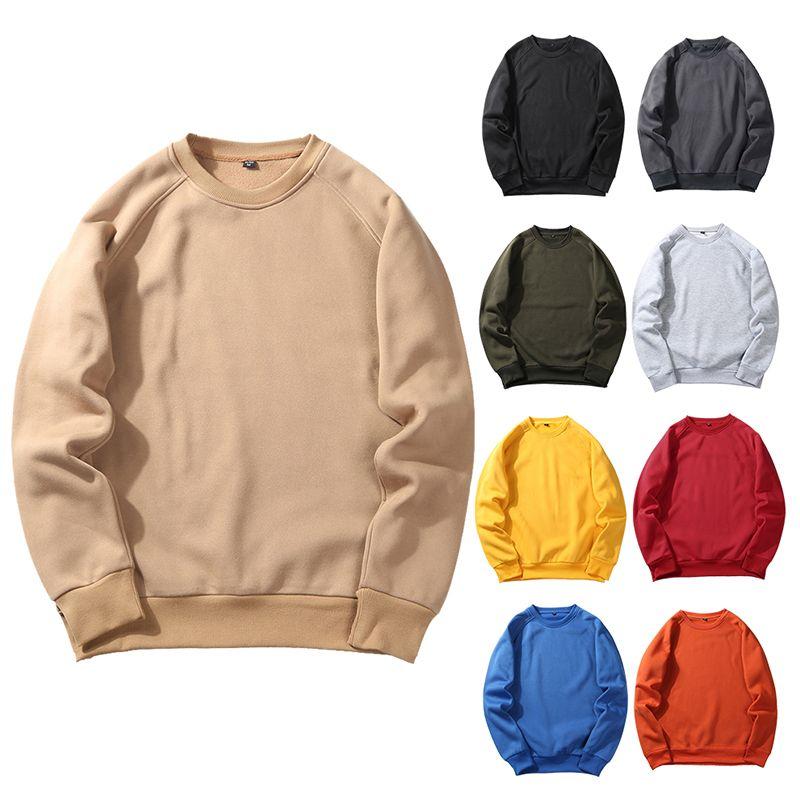 Men Hoody Hooded Jumper Sweatshirt Pullover Sweater Plain Hoodie  Solid Tops