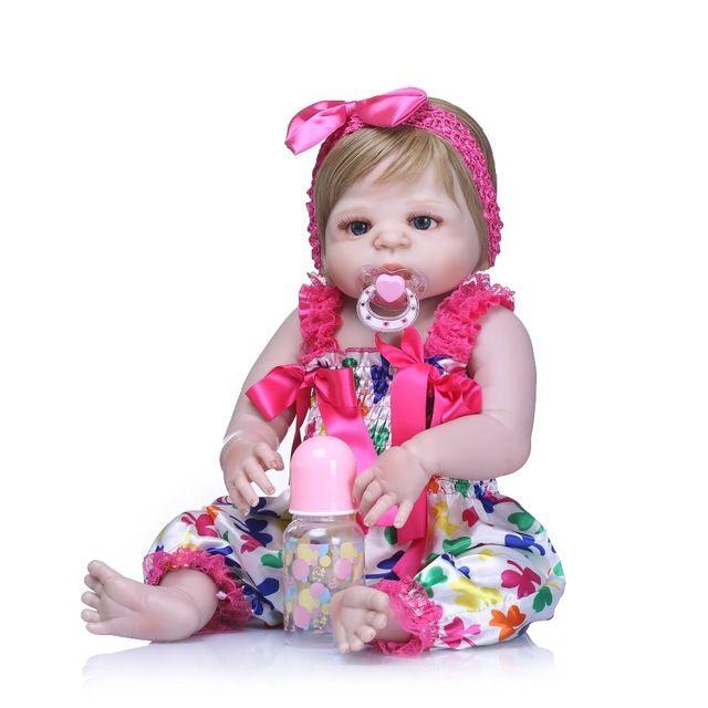 Full Silicone Girl Bebe Reborn Babies Doll Bath Toy Lifelike Newborn Princess Baby Dolls Bonecas Doll Reborn Gift New Arrival