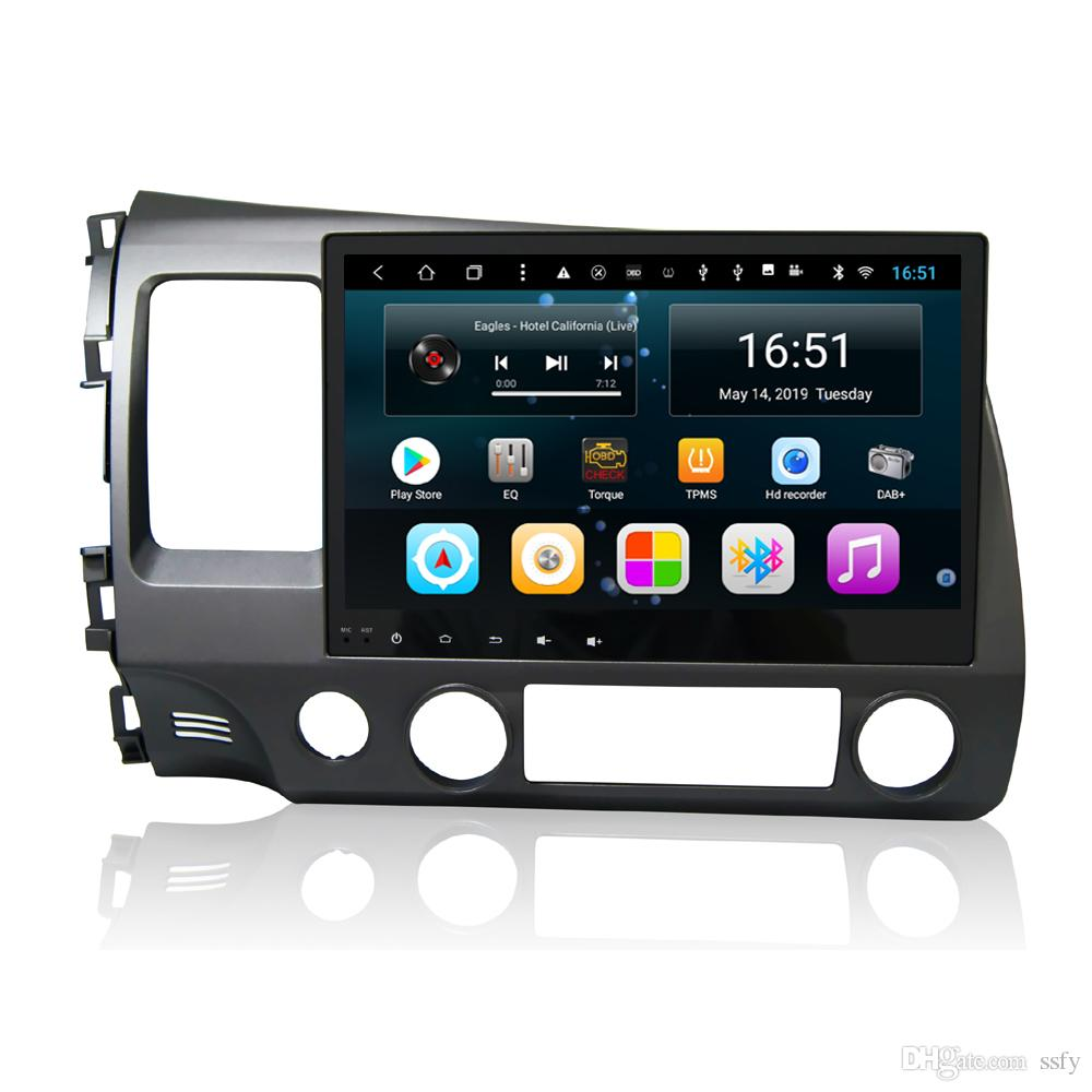Android 10.1inch 8-core for Honda civic 2006-2011 car multimedia high quality radio mp3 mp4 GPS navigation Wifi head unit