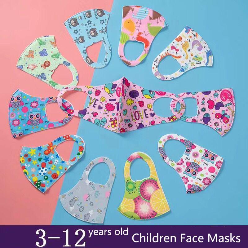 PM2.5 Niños Anti-Contaminación Mascarillas Boys Girls Dibujos animados Boca Cara Niños Anti-polvo transpirable Larraop Lavable Máscara Reutilizable