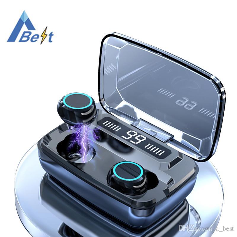 العرض بلوتوث اللاسلكية سماعات الأذن LED الرقمية التي تعمل باللمس 8D TWS 5.0 سماعة M11 3300Mah تجدد powerbank شحن سماعة للماء حالة V5.0 سماعة