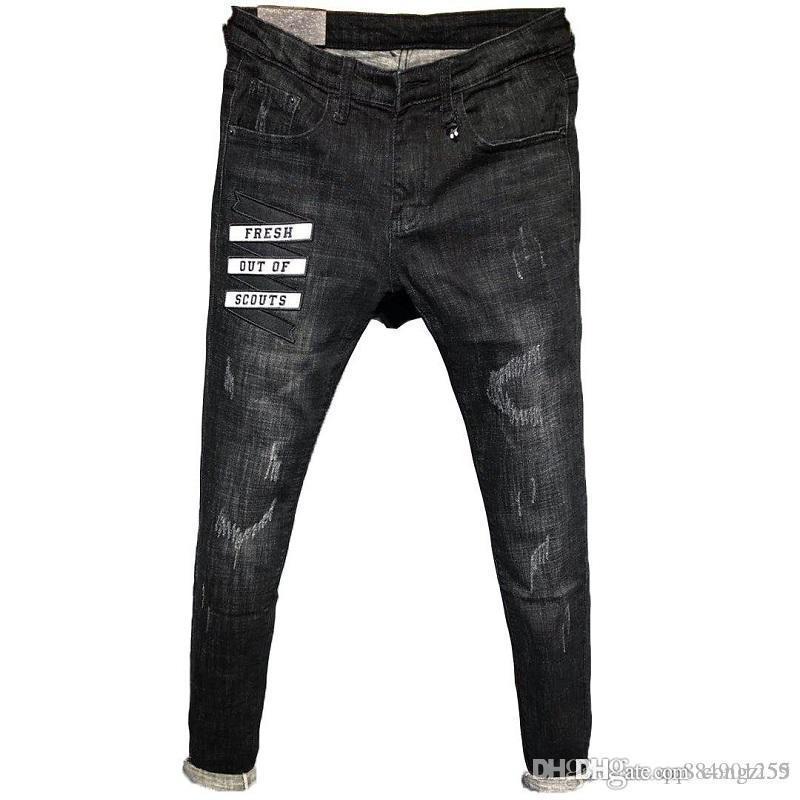 2019 nuovo stile di modo casuale caldo di vendita a motore Biker jeans da uomo Designer Jeans Hip Hop Jeans Uomo dal design di lusso Mens Pants Size 28-34