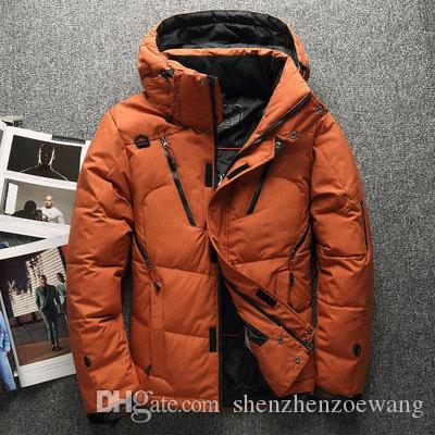 Thick Warm Winter Duck Down Jacket for Men and Women Fur Collar Parkas Hooded Outerwear Coat Plus Size Overcoat Western Style
