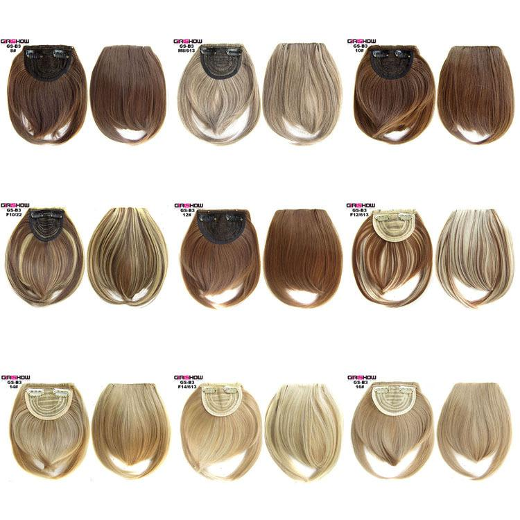 Wig wholesale factory direct sales two long bangs chemical fiber high temperature silk double corner Qi Liuhai tablets