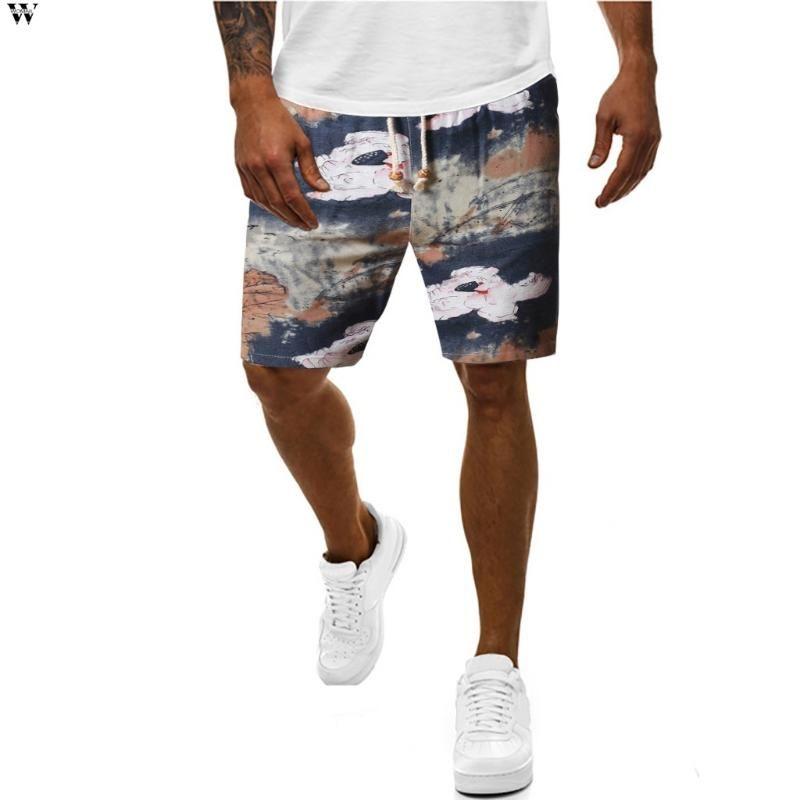 السراويل الجديدة للعلامة التجارية عام 2020 ذكور عارضة لصق السراويل القصيرة لياقة الأزياء الرجال و الوصل القصير Mens 4.10