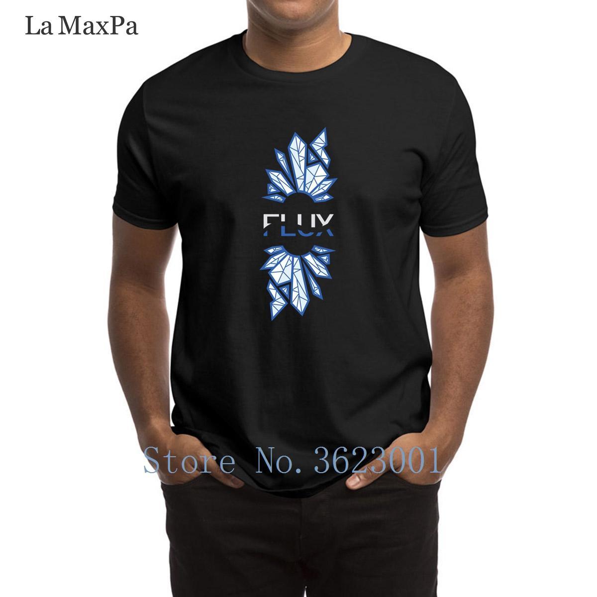 Standard Design T-shirt do homem Flux Gaming Homens T Shirt estranho masculino camiseta Homem Novo Chegada em torno do pescoço T-shirt para homens Top Tee
