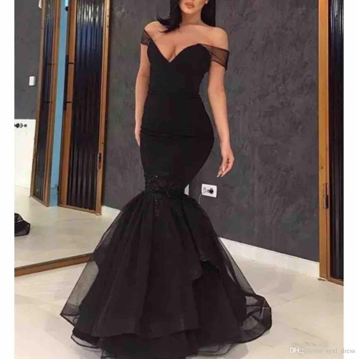 vestidos de baile sereia preto de noivado 2019 Abendkleider vestidos de noite formal robes de mariée vestido de novia
