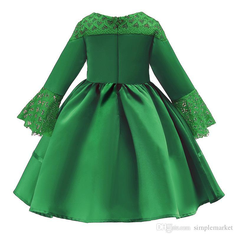Рождество платье детские кружева детей платье принцессы платье девушки юбка Детский конструктор одежды детей дизайнер куртки девочек
