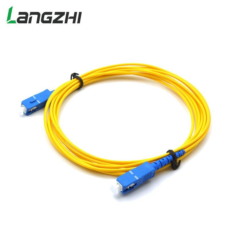 2 Core SC to SC single mode 100 meters FTTH cables Fiber Optic jumper