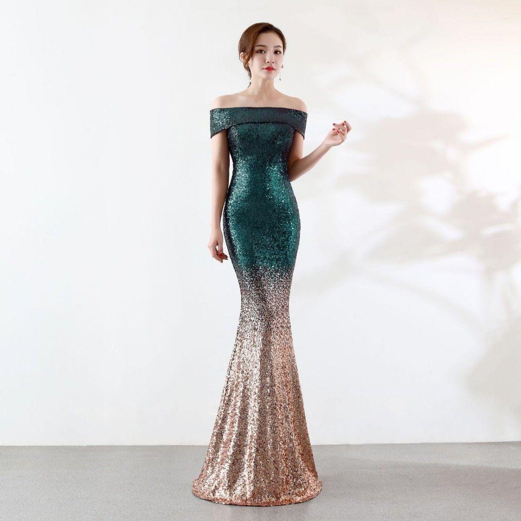Compre Sirena Con Lentejuelas Vestidos Para Bodas Novias Novias Vestidos De Mucama Elegante Fiesta De Noche Desgaste Barato En Stock Es A 7638 Del
