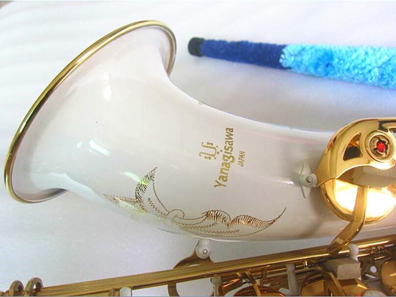 Yanagisawa T-992 New Saxofone Tenor alta qualidade Sax B tenor sax plana jogar profissionalmente parágrafo tecla de música de ouro branco Saxofone