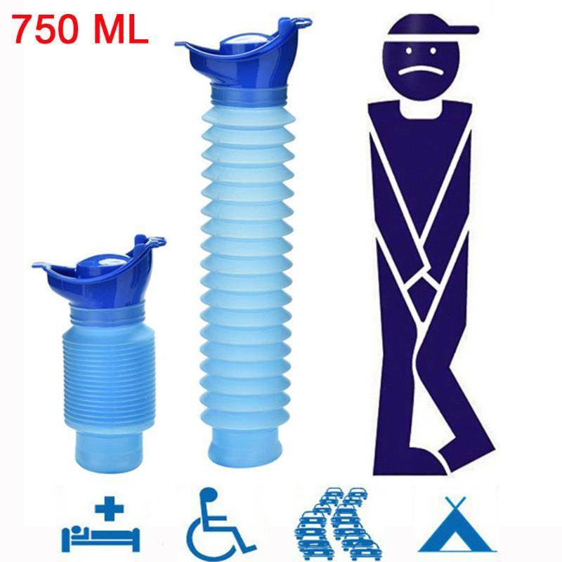 De alta calidad de 750 ml de orina portátil para adultos Urinario acampar al aire libre recorrido de coche micción de orina pis suave WC WC ayudar a los hombres