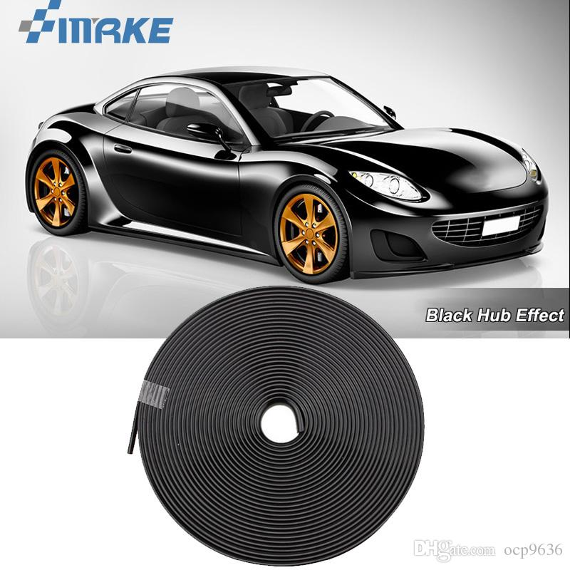 8 М Колесо Автомобиля Ступица Обода Края Защитное Кольцо Шины Газа Гвардии Резиновые Наклейки На Автомобилях Черный Стайлинг