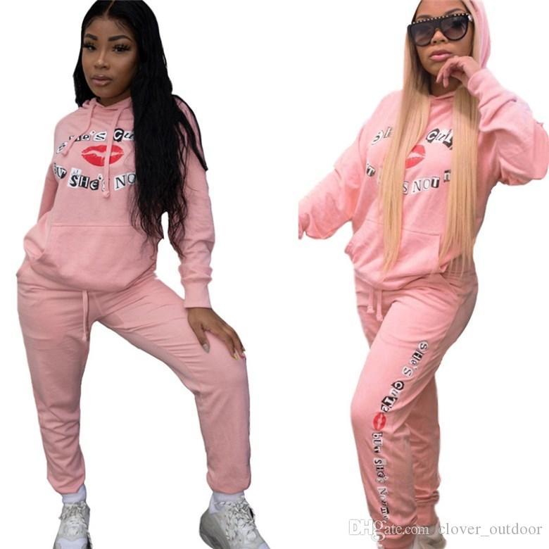 женские два кусок набора рубашки брюки спортивного костюма обмундирование длинного рукав спортивной рубашка брюки Sweatsuit пуловеры колготки спортивных горячую klw2447