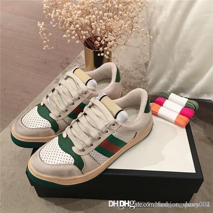 kutu boyutu 35-44 ile spor ayakkabıları çalışan aynı baskı şerit renk rahat ile yeni kirli ayakkabılar erkek ve kadınların Güncelleme versiyonu