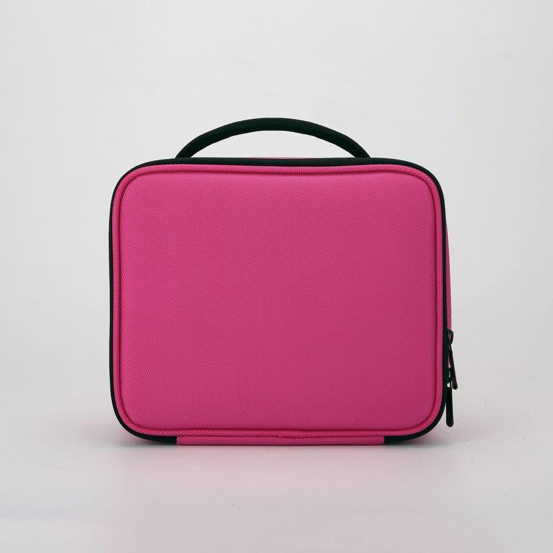 Yeni bayanlar taşınabilir kozmetik çantası moda basit büyük kapasiteli düz renk makyaj kutusu kadınlar 2020 Kore versiyonu