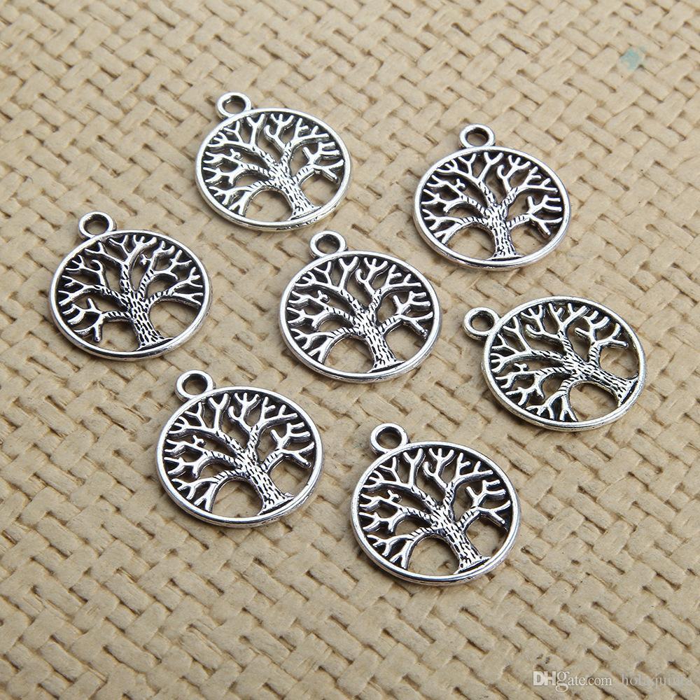 Antique Silver Tree de Charm Life Pendentif Fabrication de bijoux bricolage résultats