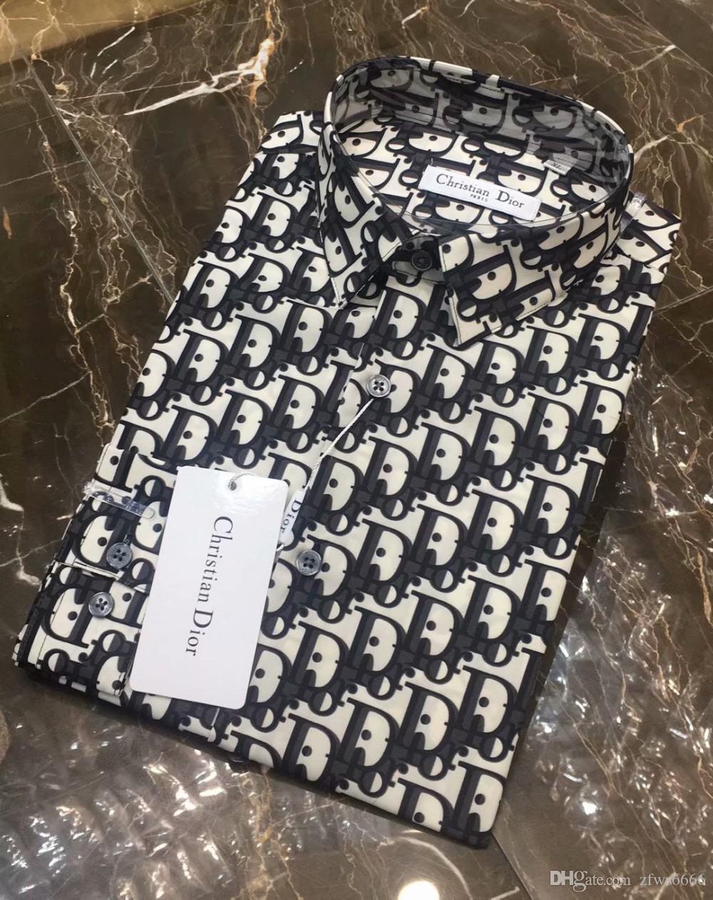 Erkek marka gömlek tasarımcısı gömlek Fransız Paris Marka 189 erkek erkekler uzun kollu gömlek Hip Hop tarzı yüksek kaliteli pamuk 2019 yeni varış giysi