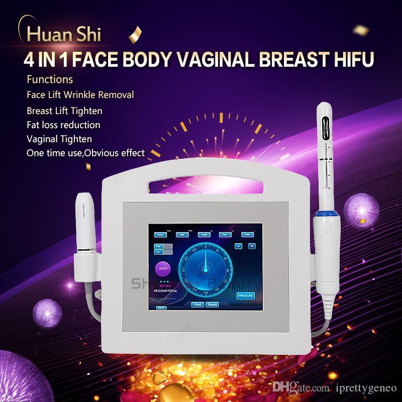 3 en 1 machine faciale vaginale HIFU 7 cartouches Vmax hifu peau de rajeunissement de la peau ciblée de levage et de serrage du corps de serrage