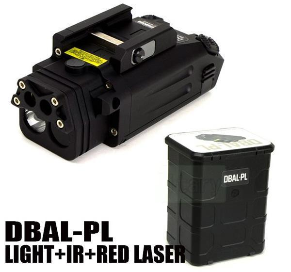 Новый DBAL-PL белый свет светодиодный тактический фонарик с красной лазерной указкой и ИК-подсветкой черный