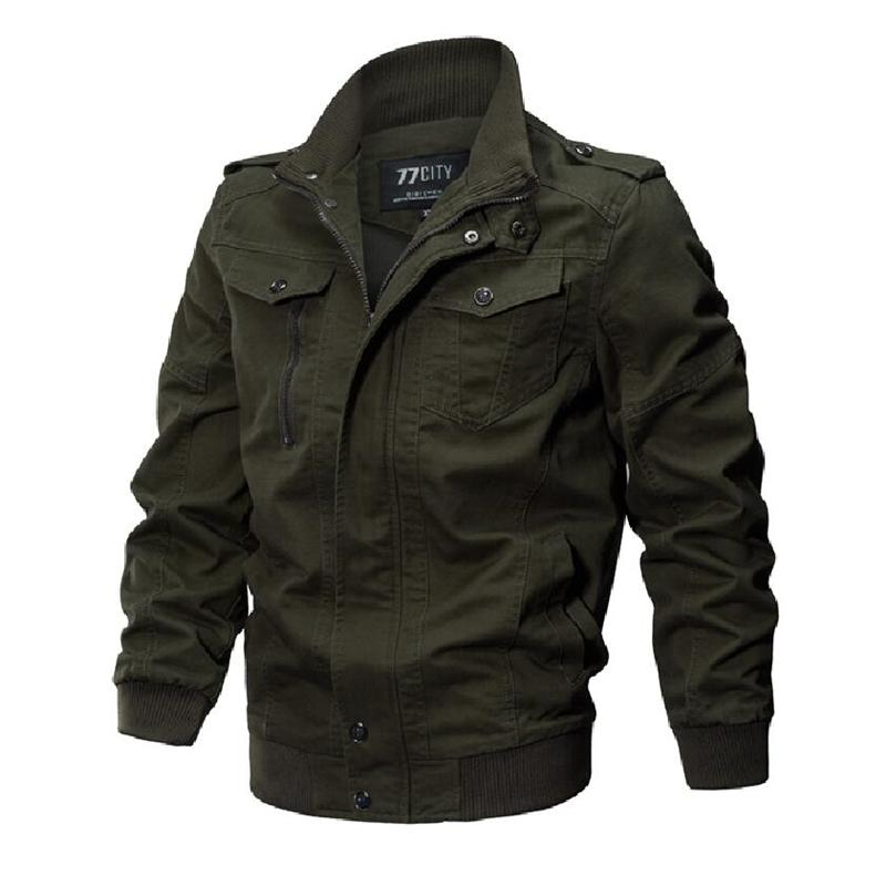 Fashion- Winter Jacket Men Autumn Cotton Pilot Jacket Coat Army Men's Bomber Jackets Cargo Flight Male Plus Size 6XL