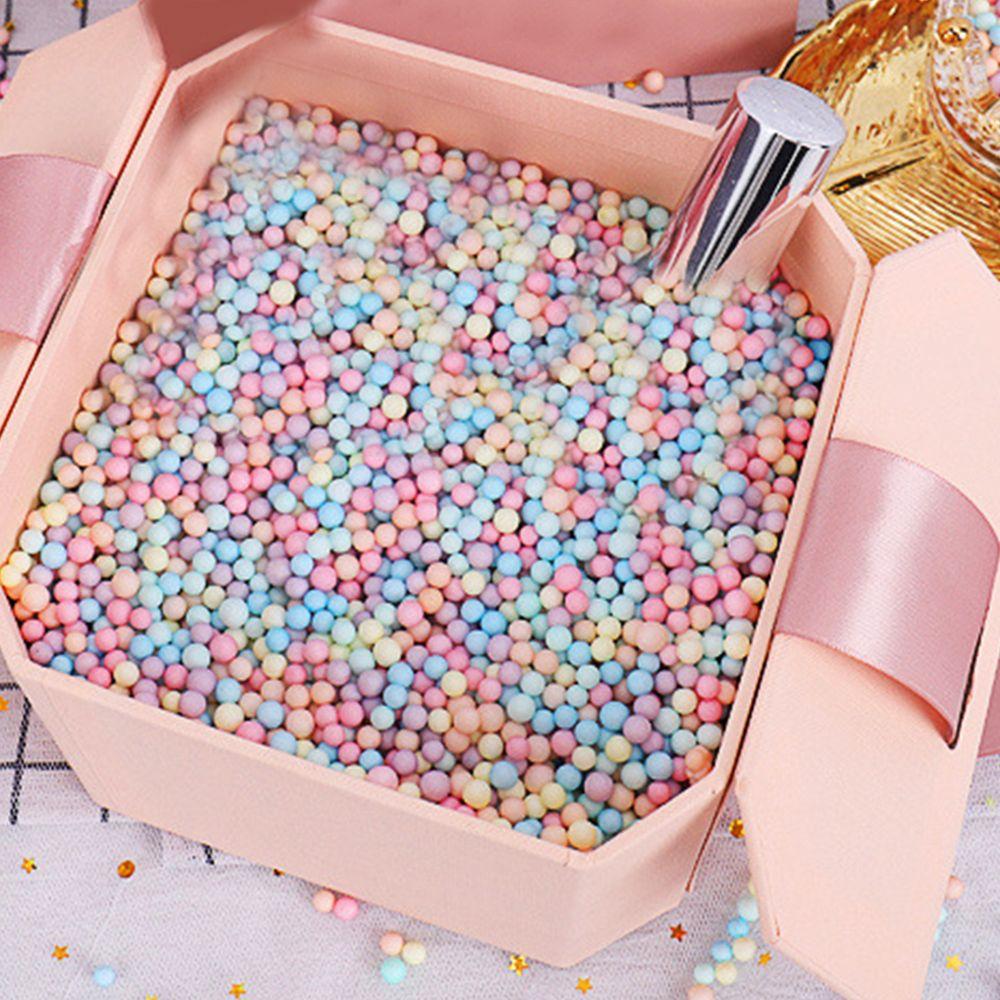 10g / Bag schiuma palla colorata Sorpresa ripiene regalo della caramella per la festa nuziale di compleanno delle decorazioni colorate Ball Packaging Supplies