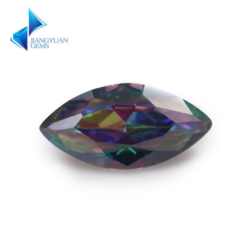 حجم 3x6 ملليمتر ~ 10x20 ملليمتر تصفيح مزيج اللون متعدد الألوان زركون ماركيز قص فضفاض تشيكوسلوفاكيا ستون الأحجار الكريمة الاصطناعية