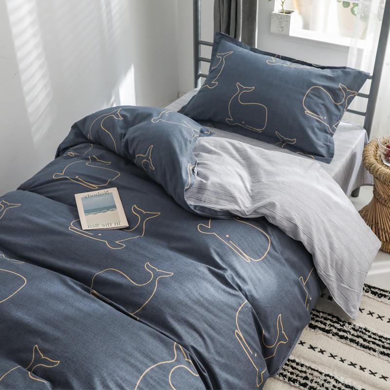 Estudantes universitários Dormitório Fundamentos Three-Piece Set Linens Two-Piece Set Cotton Quilt fundamento único Bed