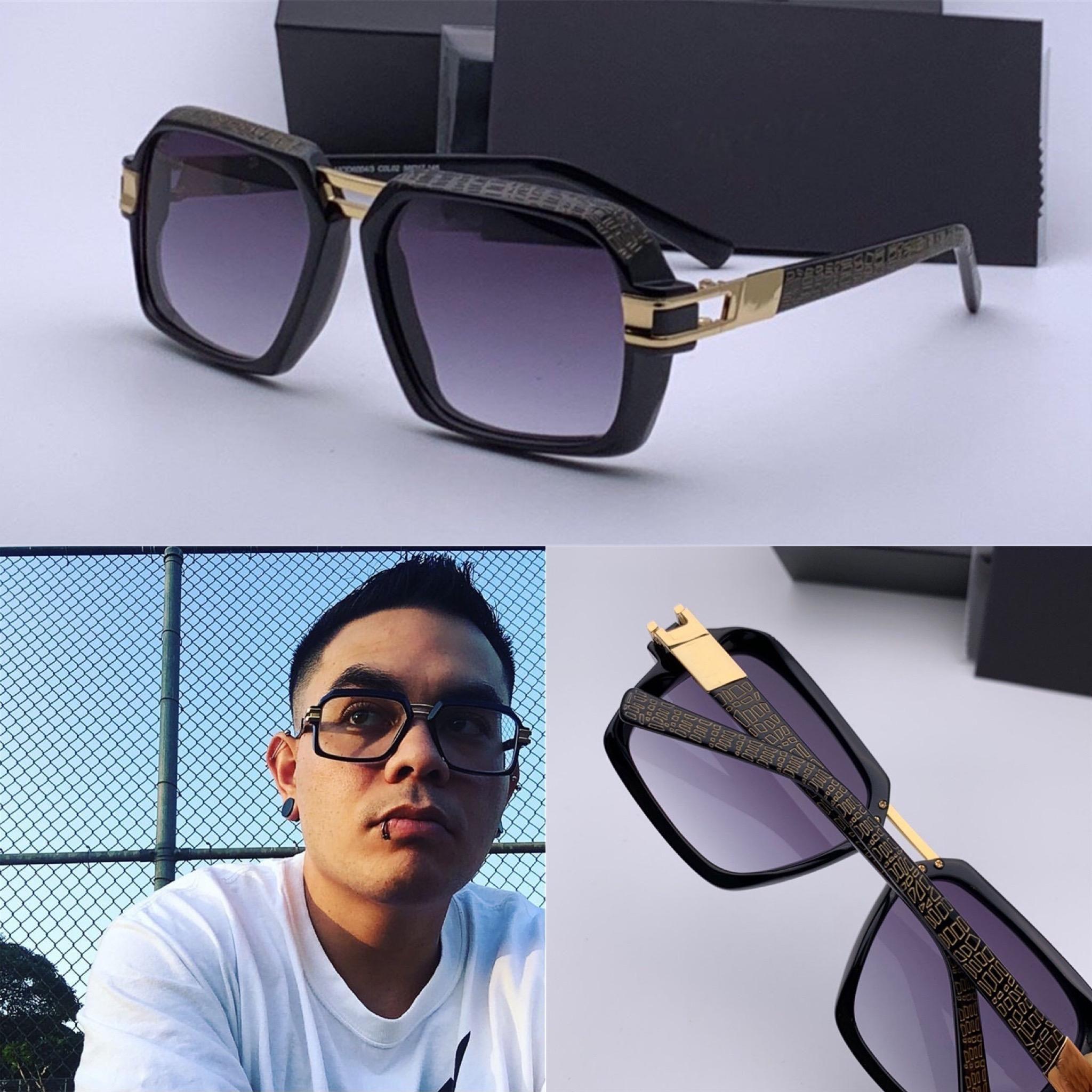 Les nouveaux hommes populaires design allemand lunettes de soleil style design simple mode cadre imprimé 6004 punk rétro carré avec étui