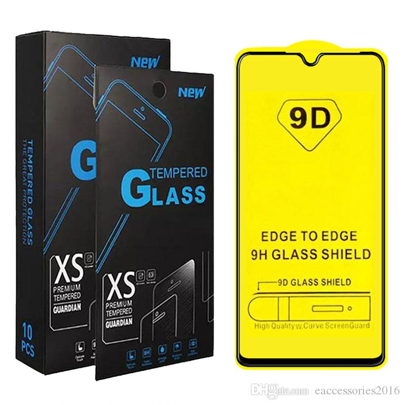 9D полное покрытие из закаленного стекла для Samsung A10E A20E A10 A20 A30 A50 A40 A70 A90 Galaxy M10 M20 M30 черный укрепить протектор